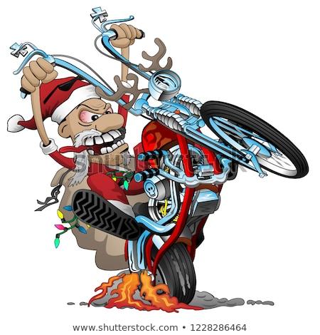 vector · Cartoon · motocicleta · moto · eps10 · grupos - foto stock © jeff_hobrath