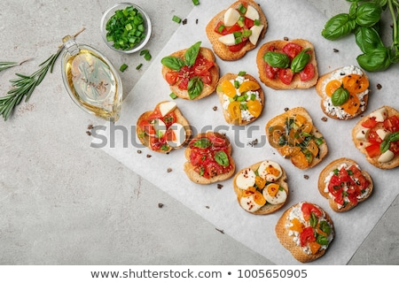 crostini with different toppings stock photo © alex9500