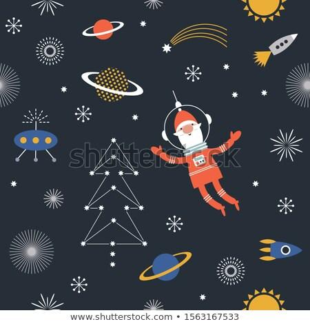fusée · navire · battant · espace · illustration · espace - photo stock © krisdog