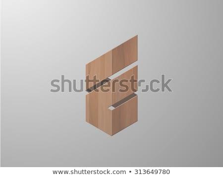 e letter stylized vector logo icon e Stock photo © blaskorizov