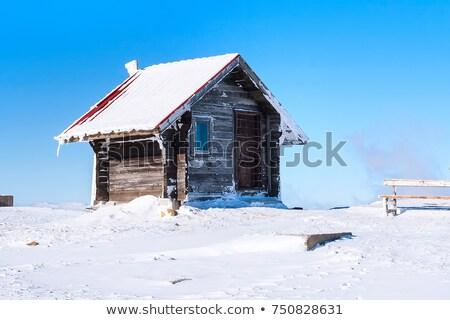 Cabaña nieve campo ilustración casa Foto stock © colematt