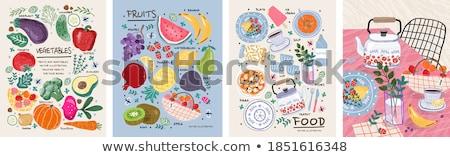 üveg víz brokkoli szett egészséges étel izolált Stock fotó © robuart