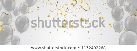 Happy Birthday Banner Isolated on Grey Background Stock photo © robuart
