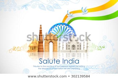 Golvend indian vlag ontwerp republiek dag Stockfoto © SArts