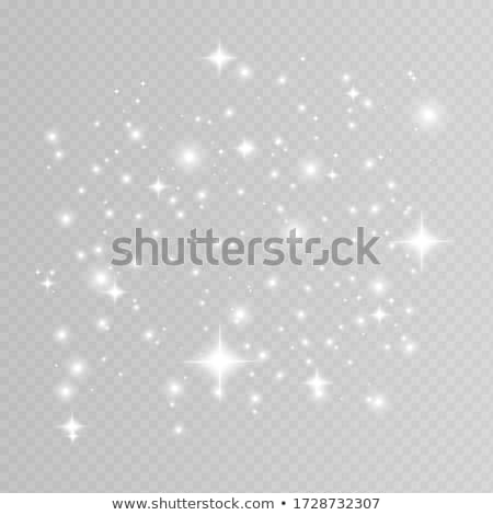Silver glitter sparkle on a transparent background. Vibrant background with twinkle lights. Vector i Stock photo © olehsvetiukha