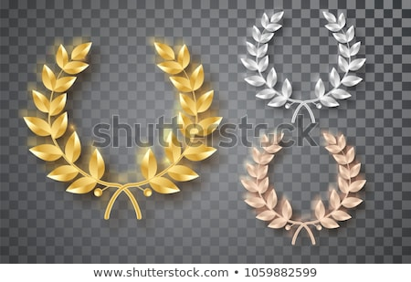 Golden Branch Vector. Gold Laurel Wreath. Award victory Design Element. 3D Realistic Illustration Stock photo © pikepicture