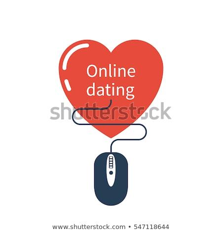 Abstração telefone móvel corações on-line namoro redes sociais Foto stock © MarySan