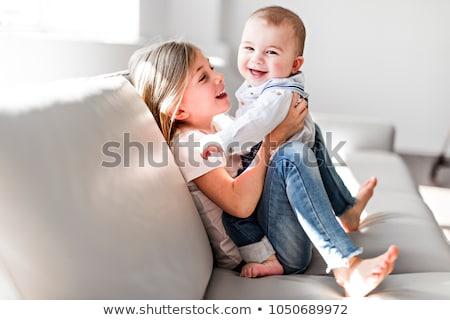 Pequeno irmã bebê irmão criança criança Foto stock © Lopolo
