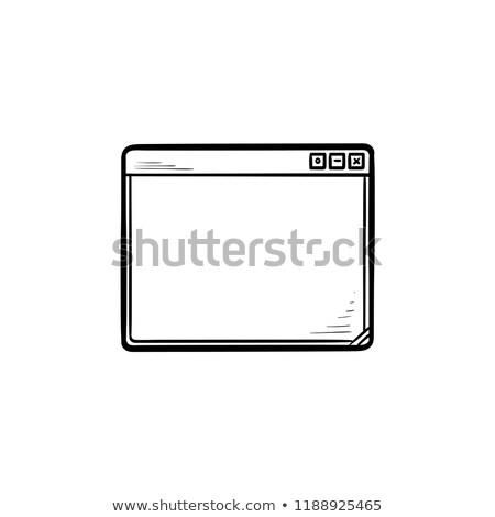 otthon · oldal · kézzel · rajzolt · skicc · firka · ikon - stock fotó © rastudio