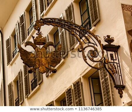 Doble dorado águila signo Suiza edad Foto stock © boggy
