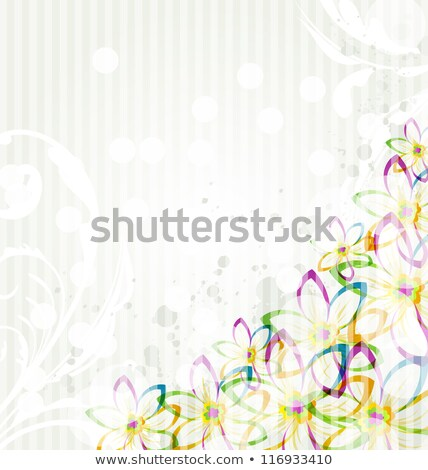 Banner Blob With Flowers Transparent Background Stock photo © adamson