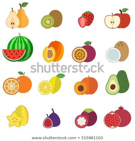 Apricot, strawberry and kiwi Stock photo © ConceptCafe