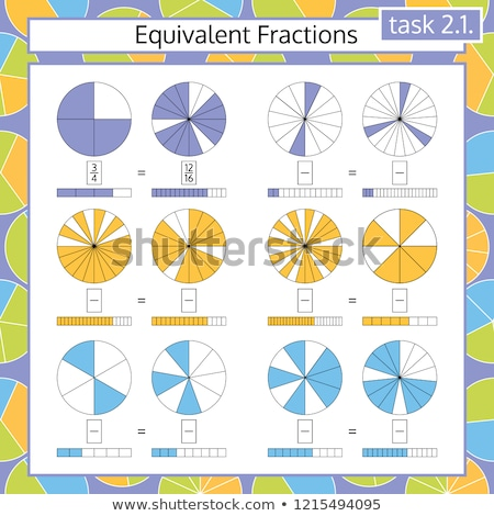 Math worksheet with division questions Stock photo © colematt