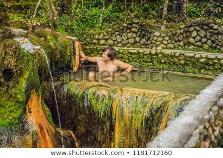 Belulang Hot Springs in Bali, Village Mengesta, Penebel District, Tabanan regency stock photo © galitskaya
