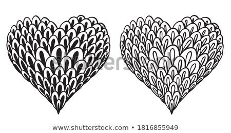 Juego elementos San Valentín negro educativo desarrollo Foto stock © Olena