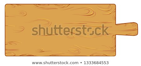 meter wood cutting board isolated on white vector illustration stock photo © doomko