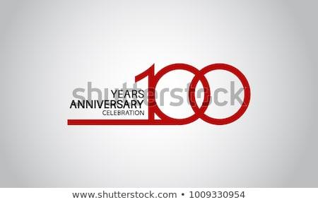 100 лет летию дизайна простой изолированный Сток-фото © kyryloff