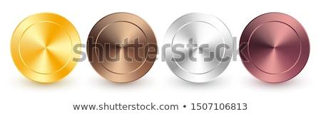 コレクション 青銅 メタリック 勾配 輝かしい プレート ストックフォト © olehsvetiukha