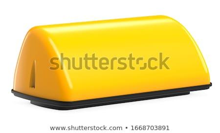 Táxi telhado amarelo branco ilustração 3d carro Foto stock © make