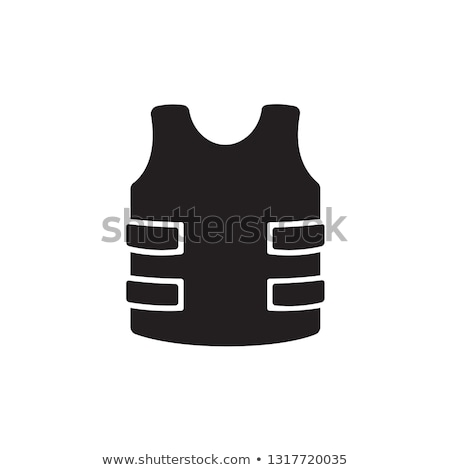 politie · zwaar · pantser · schild · zwart · wit · illustratie - stockfoto © angelp