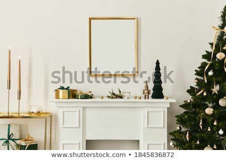 Wooden frame templates with Santa Stock photo © colematt