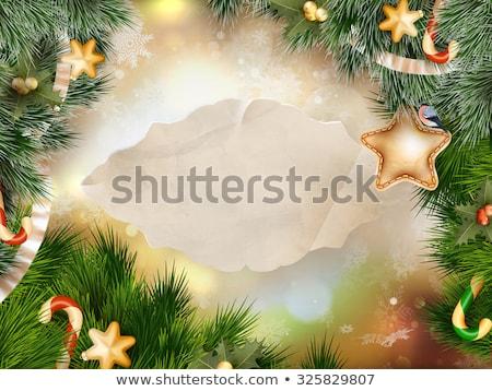 рождественская елка гирлянда фары черный прибыль на акцию 10 Сток-фото © sonia_ai