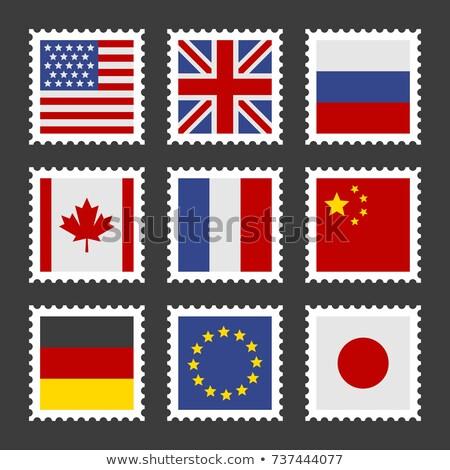 Németország zászló tér keret illusztráció terv Stock fotó © colematt