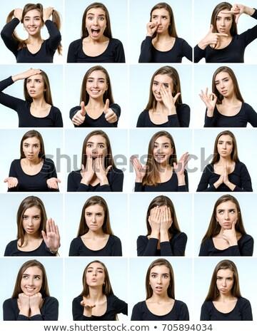 Genç kadın farklı örnek kız yüz Stok fotoğraf © colematt
