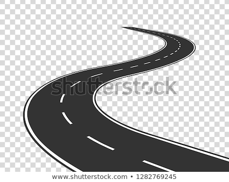 curved asphalt road track background Stock photo © SArts