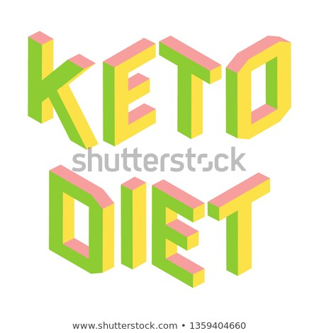 Ketogenic, Keto diet, colorful 3d letters isolated, logo Stock photo © MarySan