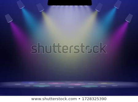 spotlit stage with curtains stock photo © albund