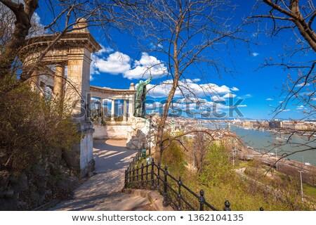 saint gerard monument and budapest cityscape view stock photo © xbrchx