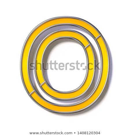 Orange metal wire font Letter O 3D Stock photo © djmilic