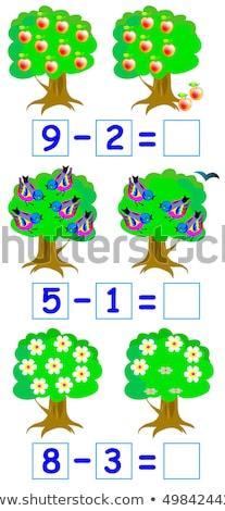 Matematyki odejmowanie tle sztuki piśmie zabawki Zdjęcia stock © bluering