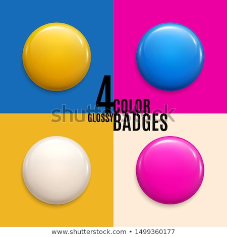 Négy üres mágnes jelvények szett terv Stock fotó © SArts