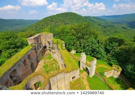 Stockfoto: Castle Ruin Graefenstein Merzalben In Dahn Rockland