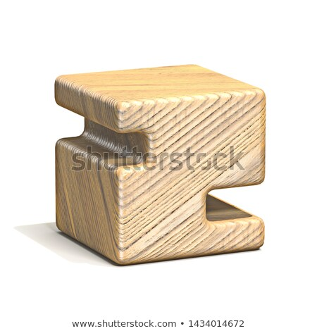 Solid wooden cube font Number 2 TWO 3D Stock photo © djmilic