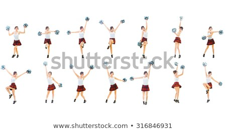 Cheerleader geïsoleerd witte vrouw school gelukkig Stockfoto © Elnur
