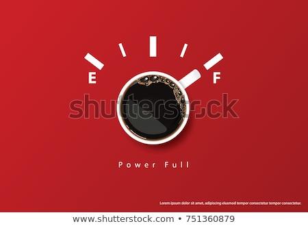 Pause café déprimée employé de bureau stress émotionnel Photo stock © RAStudio