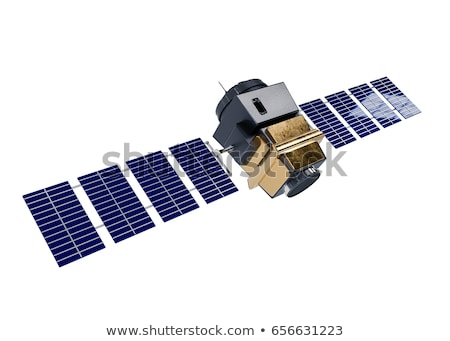 Modern weather scientific satellite at the Earth orbit Stock photo © mechanik