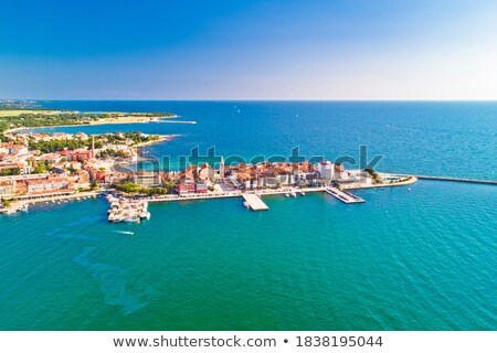 town of umag historic coastline architecture aerial view stock photo © xbrchx
