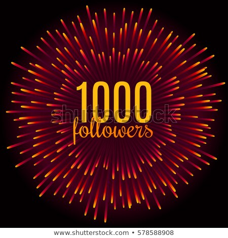 1000 followers thank you celebration firework template Stock photo © SArts