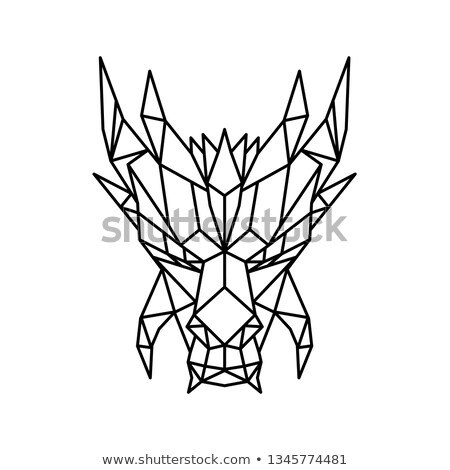 Dragon Head Front Low Polygon Style Stock photo © patrimonio
