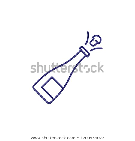 Wedding Dinner-party Sign Thin Line Vector Icon Stock photo © pikepicture