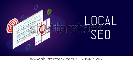 Local search optimization concept banner header. Stock photo © RAStudio