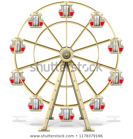 revolving wheel with passenger cars isolated vector stock photo © robuart