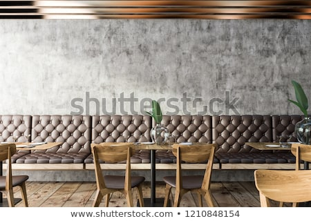Coffee House or Bar Interior, Counter and Stool Stock photo © robuart