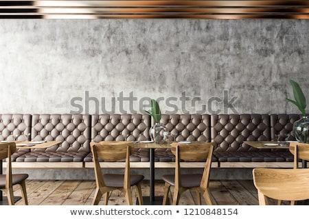 Kávéház bár belső pult zsámoly belsőépítészet Stock fotó © robuart