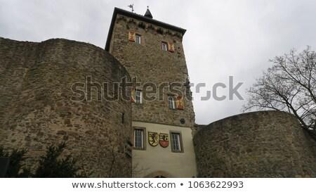 Сток-фото: ворот · башни · плохо · Германия · город · стены
