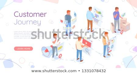 cliente · compra · processo · isométrica · vetor · pessoas - foto stock © robuart